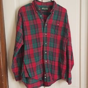American eagle outfitters red and green plaid